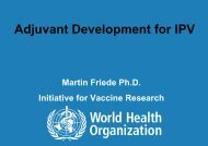Adjuvant Development for IPV