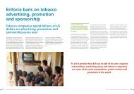 Enforce bans on tobacco advertising, promotion and sponsorship