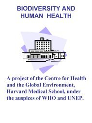 BIODIVERSITY AND HUMAN HEALTH - World Health Organization