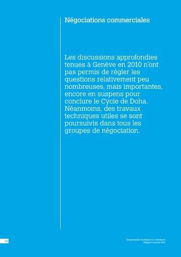 Les discussions approfondies tenues à Genève en 2010 n'ont pas ...