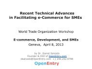Recent Technical Advances Facilitating e-Commerce for SMEs