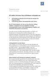Presseinformation Press Information ZF stattet 410 neue Nova LFS ...