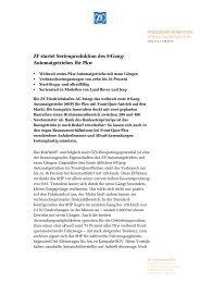 ZF startet Serienproduktion des 9-Gang- Automatgetriebes für Pkw