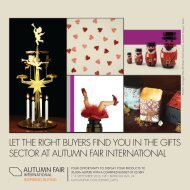Let the RiGht buYeRs Find You in the GiFts seCtoR at autuMn FaiR ...