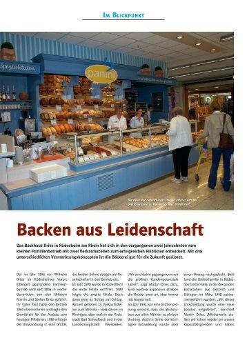 Backen aus Leidenschaft - Bäcker Dries