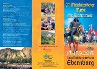 Programm Mittelalterlicher Markt - Bad Münster am Stein-Ebernburg
