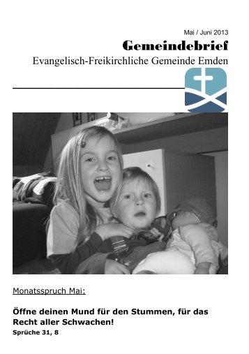 Mai Juni 2013 - Evangelisch-Freikirchliche Gemeinde