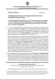 PI_Stellungnahme zu Kämpf mit - Landesjagdverband Rheinland ...