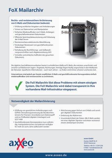 Produktflyer - axxeo GmbH