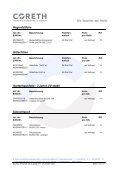 Preisliste 2014 zum Download - Coreth - Seite 4