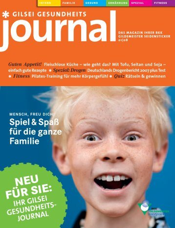 Journal Ausgabe 01/2008 (PDF 2,67 MB) - BKK Gildemeister ...