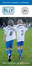 Eltern und Schule - ein starkes Team. Infobroschüre des BEV ... - BLLV