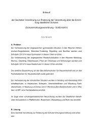 Entwurf der Sechsten Verordnung zur Änderung der ... - BLLV