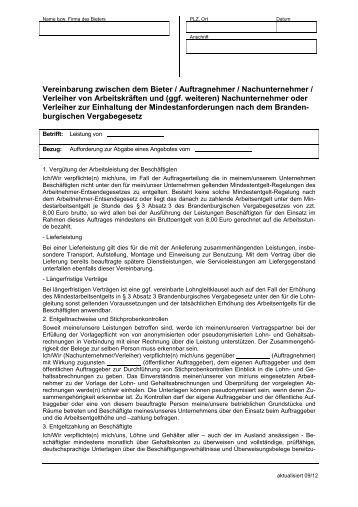 muster basis vhb vol bbg nachunternehmererklrung pdf 42kb - Muster Honorarvertrag