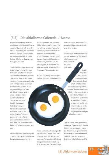 35 [5.3] Die abfallarme Cafeteria / Mensa - BSR