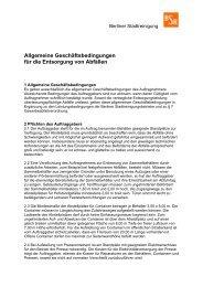 AGB Entsorgung von Abfällen (gewerbl. Bereich) - BSR