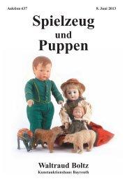 Auktion 637, Spielzeug und Puppen - bei Waltraud Boltz ...