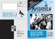 Aussichten 2013 - Bund Naturschutz Kreisgruppe Erding