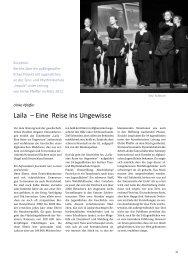 Tanztheater: Laila- Eine Reise ins Ungewisse von Ulrike Pfeiffer