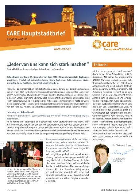 Hauptstadtbrief IV/2011 - CARE Deutschland e.V.