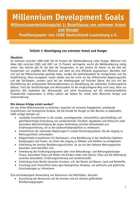 Armut beseitigen - CARE Deutschland e.V.