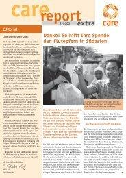 Danke! So hilft Ihre Spende den Flutopfern in Südasien - CARE ...