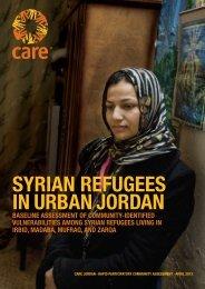 SYRIAN REFUGEES IN URBAN JORDAN - UNHCR