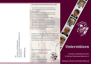 Unterstützen - Martins-Chorknaben Biberach