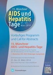 15. Münchner AIDS- und Hepatitis-Tage