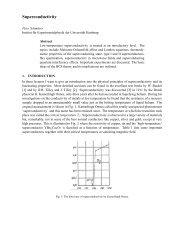 Superconductivity - Desy
