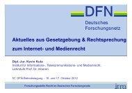Aktuelles aus Gesetzgebung & Rechtsprechung zum Internet- und ...