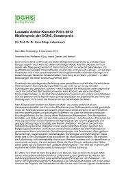 Laudatio für Hans Küng (Sonderpreis) - DGHS