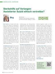 Sterbehilfe auf Verlangen: Assistierter Suizid ethisch vertretbar? Pro
