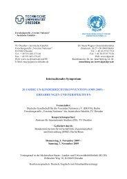 aktualisiertes Programm - Deutsche Gesellschaft für die Vereinten ...