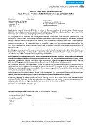 Vorblatt – Befragung von Wohnprojekten - Difu