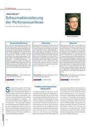 Schaumsklerosierung der Perforansvarikose - Dr. med Birgit ...