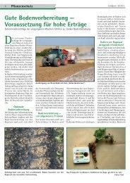 Gute Bodenvorbereitung — Voraussetzung für hohe Erträge - DüKa