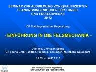 Einführung in die Felsmechanik - Dr. Spang Ingenieurgesellschaft