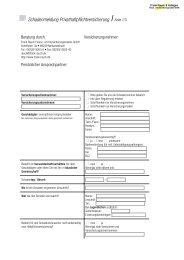 Schadenmeldung Privathaftpflichtversicherung Seite 1/3