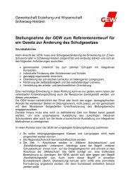 Stellungnahme der GEW zum Referentenentwurf für ein Gesetz zur ...