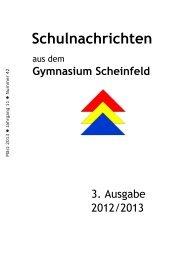 MITTEILUNGEN DER SCHULLEITUNG - Gymnasium Scheinfeld