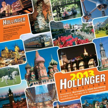 Titel 2013 Druck - Max Hollinger Omnibusunternehmen GmbH
