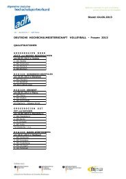 DHM Volleyball 2013 - Allgemeiner Deutscher ...