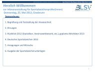 1. Das Deutsche Sportabzeichen - blsv