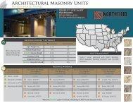 Architectural Masonry Units - Northfield Block