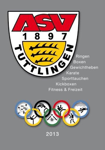 Ringen Boxen Gewichtheben Karate Sporttauchen ... - ASV Tuttlingen