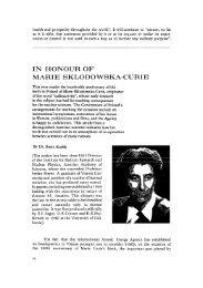 in honour of marie sklodowska-curie - International Atomic Energy ...
