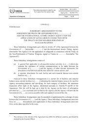 Model Subsidiary Arrangement Code 1-9 - International Atomic ...