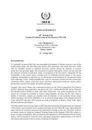 Terms of Reference - International Atomic Energy Agency