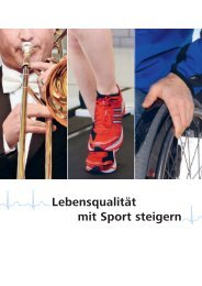 Lebensqualität mit Sport steigern - Schweizer Paraplegiker-Gruppe